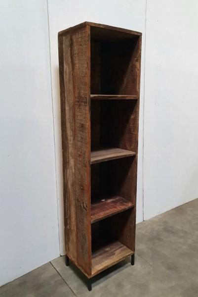 Regal Bücherregal Treibholz Massiv Holz Rustikal Braun Natur