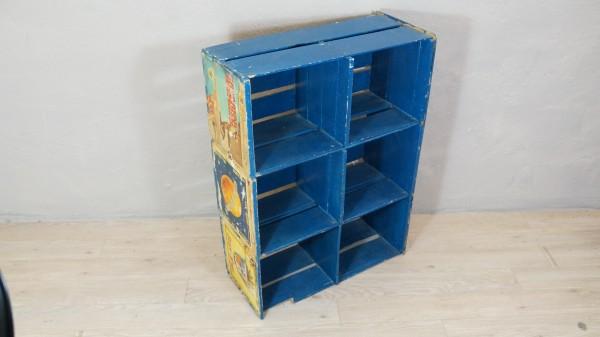Regal Kisten Blau Wandregal Aufbewahrung Ordnung Holz Vintage schabby Gebraucht