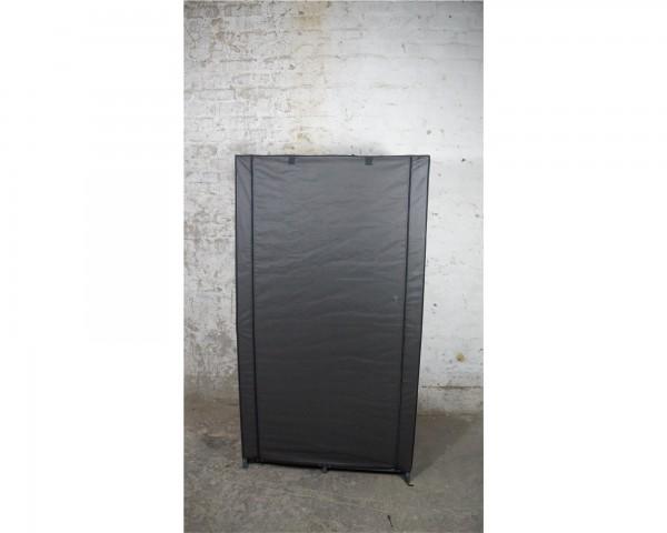 Garderobe Kleiderständer Metallgestänge anthrazit faltbar mobil Verkleidung Stoff schwarz