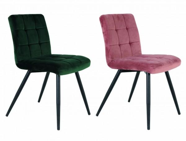 Stuhl Esszimmerstuhl verschiedene Farben Küchenstuhl Samt Vintage Retro Elegant