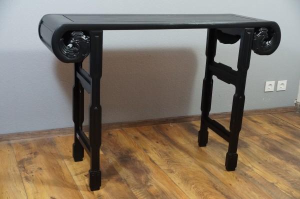 Sidetable schwarz Design Beistelltisch Anrichte Konsole Upcycling DIY Second Hand Selfmade