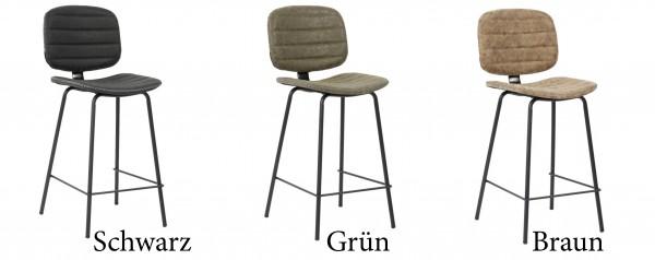 Küchenstuhl Barocker Stuhl Metall Stoff Polsterstuhl Industrial Retro Leder Vegan