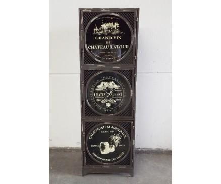 Hochkommode Kommode Türen Metall Industrial Loft Grau Anthrazit Vintage Industrie Design Aufbewahrun