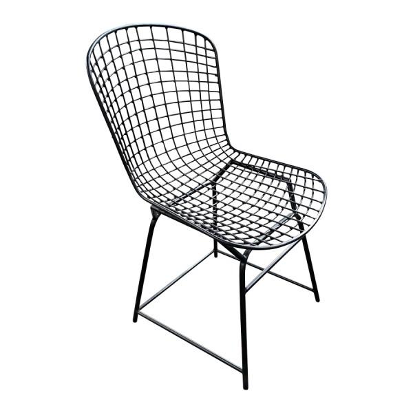 Stuhl Essstuhl Küchenstuhl Industrial Design Schalensitz Metall Schwarz