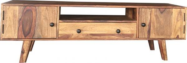 TV Board Sideboarl Lowboard Mediaboard Massivholz Vintage Natur Sheeshamholz