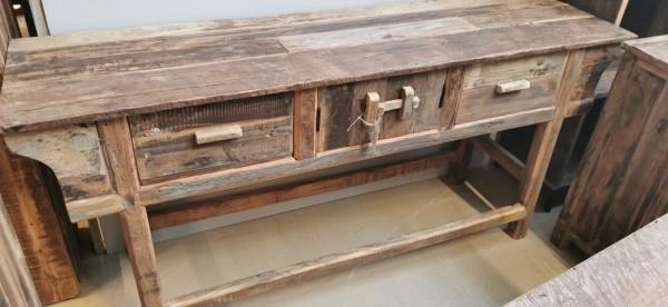 Altholz Konsolentisch Lowboard TV Board Ablage Anrichte Massiv Rustikal Vintage Natur