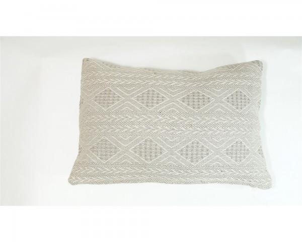 Kissen grau beige Muster beidseitig Sofakissen Dekoration orientalisch Raute Marokko
