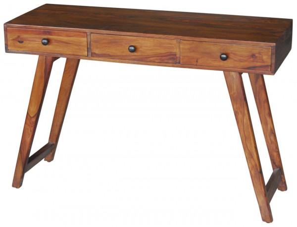 Schreibtisch Konsole Anrichte Massivholz Retro Design Schubladen Rustikal Loft