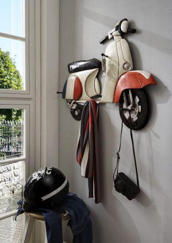 vintage wandgarderobe 3d vespa roller metall nostalgie. Black Bedroom Furniture Sets. Home Design Ideas