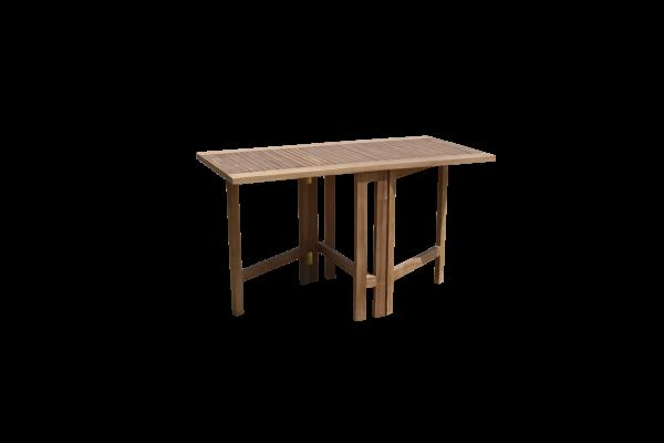 Gartentisch Balkontisch Klappbar 130x65 Tisch Teak Holz Terrassentisch