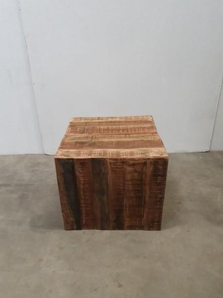Hocker Pflanzensäule Dekotisch Beistelltisch Treibholz Massivholz
