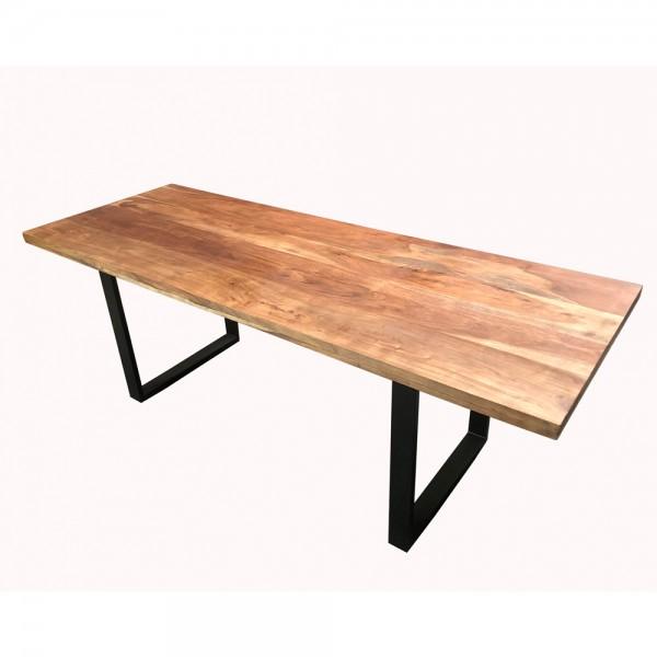 Esstisch Esszimmertisch Tafel Industrial Design Vintage Massivholz Metall Schwarz