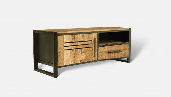 Massivholz Metall Kommode TV Board Coffee Table Industrial Steampunk Vintage Loft Design