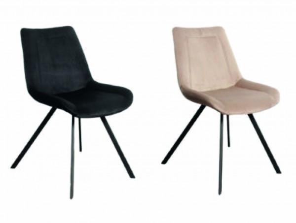 Stuhl Esszimmerstuhl Metall Samt Polsterstuhl Küchenstuhl Vintage Retro