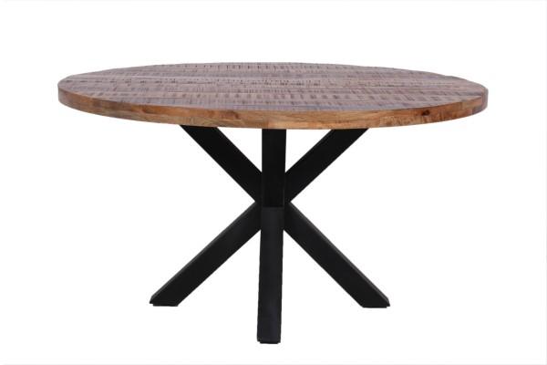 Küchentisch Esstisch Esszimmertisch Industrial Design Metall Massivholz Vintage