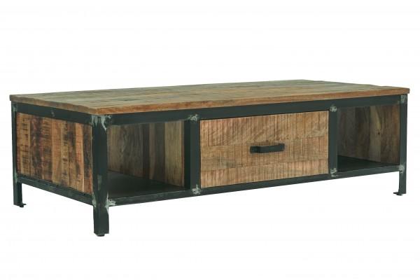 Couchtisch Massivholz Coffeetable Metall Steampunk Vintage Industrial Loft Design