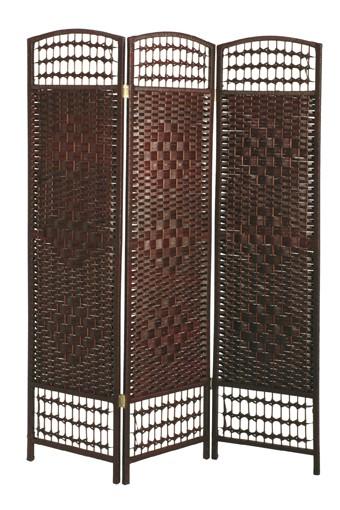Paravent Raumteiler Holz Pappelholz Dekoration Modern Braun Deko B - Ware