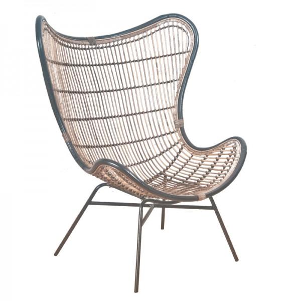 Stuhl Rattan Esssessel Metall Küchenstuhl Handarbeit Modern Design