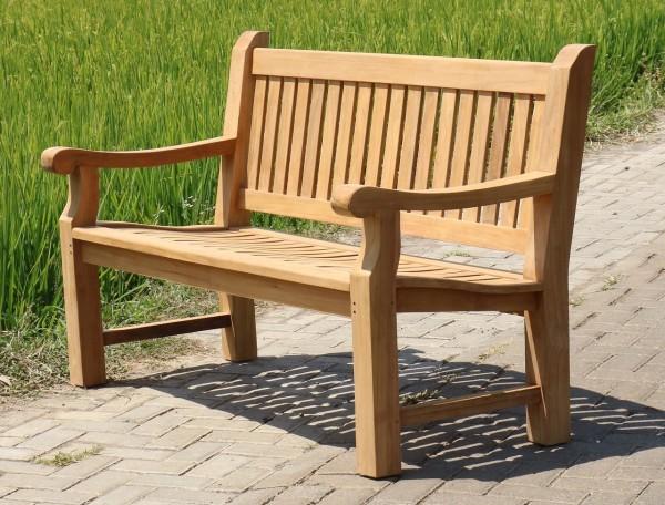 Bank Gartenbank Teak Holz Terrassenbank Braun Outdoor