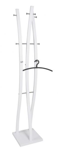 Garderobenständer Standgarderobe Weiß Chrom Modern Metall