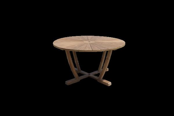 Gartentisch Rund Balkontisch 140 Tisch Teak Holz Terrassentisch