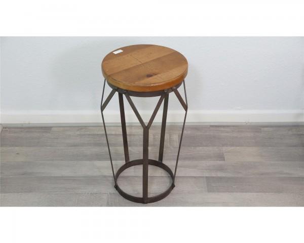 Vintage Industrial Urban Holz Stahl schwarz braun Beistelltisch Wohnzimmertisch hoch Ampore