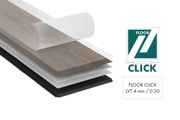 Vinylboden YUKI 430 LVT Click Floor Dielen Fußbodendielen Klick Boden Vinyl