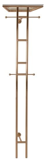 Garderobe Wandgarderobe Kleiderschrank Modern Stahl vergoldet Sicherheitsglas