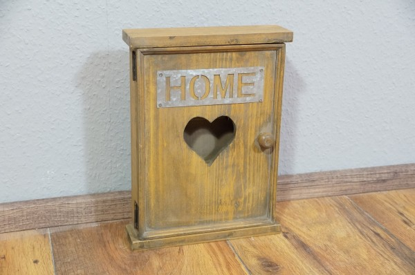 Schlüsselkasten Garderobenhaken braun Shabby Chic Vintage Landhaus Natur Home