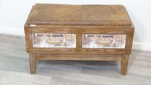 vintage sitzbank sitztruhe schublade shabby chic braun. Black Bedroom Furniture Sets. Home Design Ideas