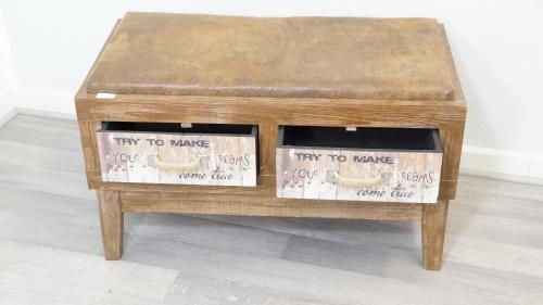 vintage sitzbank sitztruhe schublade shabby chic braun flur diele copy ebay. Black Bedroom Furniture Sets. Home Design Ideas