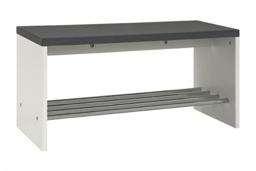 sitzbank schuhregal schuhbank schuhregal wei hochglanz chrom modern copy ebay. Black Bedroom Furniture Sets. Home Design Ideas