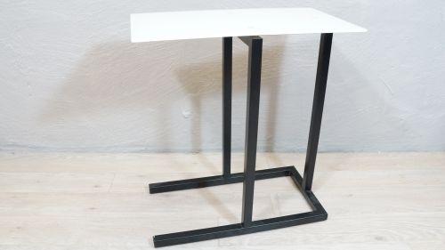 Beistelltisch Metall Schwarz Glas Weiss Couchtisch Modern B Ware Ebay