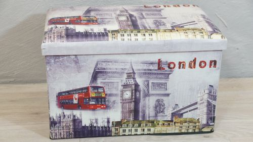 Truhe Sitztruhe Spielzeugkiste London England Kunstleder Falttruhe ...